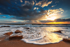 Beautiful cloudscape over the sea. Sunrise shot Royalty Free Stock Photography
