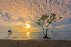 Beautiful cloudscape over the sea royalty free stock image