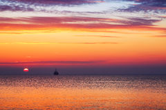 Beautiful cloudscape over the sea, sunrise shot Royalty Free Stock Photos