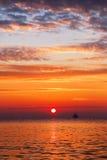 Beautiful cloudscape over the sea, sunrise shot Royalty Free Stock Photo