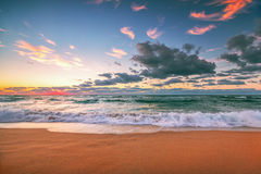 Beautiful cloudscape over the sea, sunset shot Royalty Free Stock Image