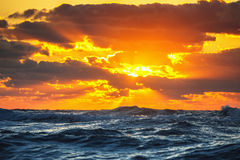 Beautiful cloudscape over the sea, sunset shot Royalty Free Stock Photography