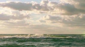 Beautiful cloudscape over the sea, video stock video footage