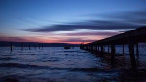 Beautiful cloudscape over the sea, video stock footage