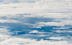 Beautiful Cloudscape from a Plane Window Stock Image