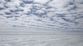 Beautiful cloudscape at the sky stock video footage