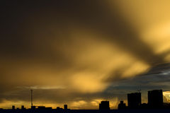 Beautiful cloudscape with sunray Stock Images