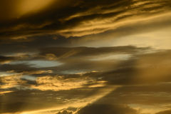 Beautiful cloudscape with sunray Stock Photos
