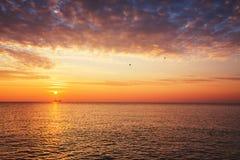 Beautiful cloudscape and sunrise  over the sea Stock Photo