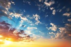 Beautiful cloudscape, sunrise shot Stock Image