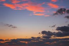 Beautiful cloudscape , sunrise shot Royalty Free Stock Photography