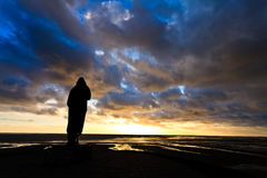 Beautiful cloudscape at sunset Stock Photo