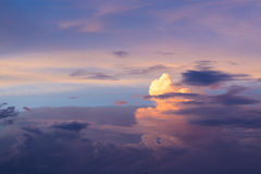 Beautiful cloudscape in tropical country Royalty Free Stock Photography
