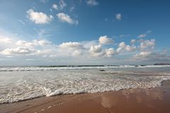 Beautiful cloudshape at the ocean in Portugal Royalty Free Stock Photo