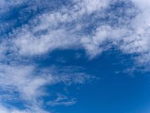 Beautiful cloudspace on blue sky. White cloud on blue sky background Stock Photography