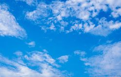 Beautiful cloudy blue sky during the day Royalty Free Stock Images