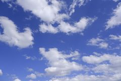 Cloud and blue sky background- image royalty free stock photography