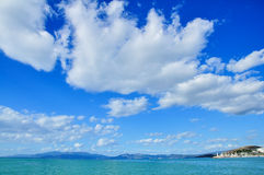 Beautiful cloudy day in Kusadasi. This image was taken in Kusadasi, Turkey Royalty Free Stock Photo