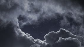 Cloudy night skly with stars. Beautiful cloudy night skly with stars stock images
