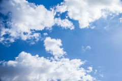 Cloudy sky background stock images