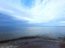 Baltic sea coast and beautiful cloudy sky, Lithuania Stock Photography