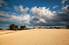 Beautiful cloudy sky and sand dune Royalty Free Stock Image