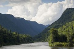 Jacques-Cartier national park in the Laurentian mountains in Canada royalty free stock photos