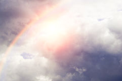 Beautiful cloudy sky with sunlight.  Royalty Free Stock Photo