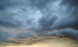 Beautiful cloudy sky. At sunset stock image