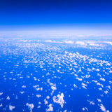Beautiful cloudy sky view from air plane window Royalty Free Stock Photos