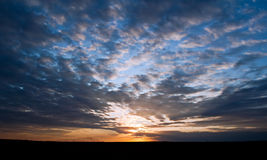 Beautiful cloudy sunrise Stock Photography