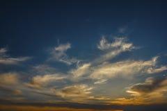 Beautiful cloudy sunset in spring season Royalty Free Stock Photos