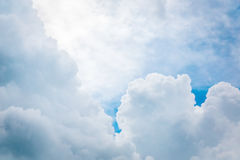 Beautiful clound in blue sky. For blackground Stock Photos