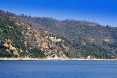 Beautiful coast Athos Greece Royalty Free Stock Photography