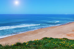 Beautiful coast beach for a walk. Stock Photos