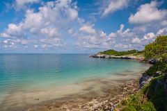 Beautiful coast and blue sky in Thailand Royalty Free Stock Photo