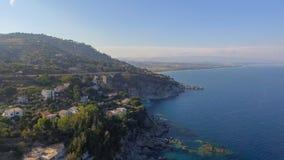 Beautiful coast of Camina, Calabria aerial view Stock Photo