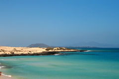 beautiful coast fuerteventura 库存图片