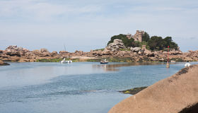 Beautiful coast 'Granite Rose'of Brittany Stock Photos