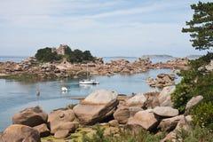 Beautiful coast 'Granite Rose'of Brittany Stock Photos