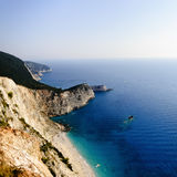Beautiful coast of Greek island Lefkada Stock Images