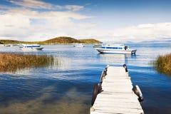 Beautiful coast of Island of Sun, Titicaca lake, Bolivia Royalty Free Stock Image