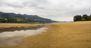 Beautiful coast landscape in the Basque Country, Spain. Stock Photos