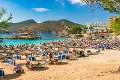 Majorca, seaside sand beach in Camp de Mar stock photo