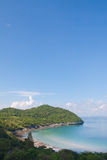Beautiful coast on left and blue sky in Thailand Stock Images