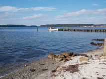 Beautiful Coast Line Beach Denmark Stock Photos