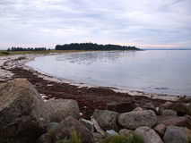 Beautiful coast line beach Denmark Royalty Free Stock Photography