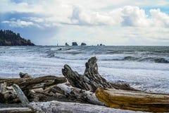Beautiful coast line of La Push in Clallam County Washington - FORKS - WASHINGTON. Beautiful coast line of La Push in Clallam County Washington Royalty Free Stock Photo