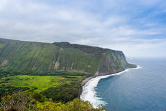 Beautiful coast line of Pacific ocean, Waipio valley, Hawaii. Stock Photo