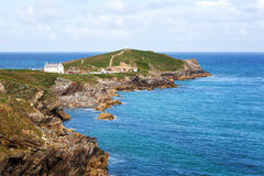 Beautiful coast Newquay in Cornwall Royalty Free Stock Photo